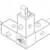 LiteTile LiteBox Corner, 3-Way, White